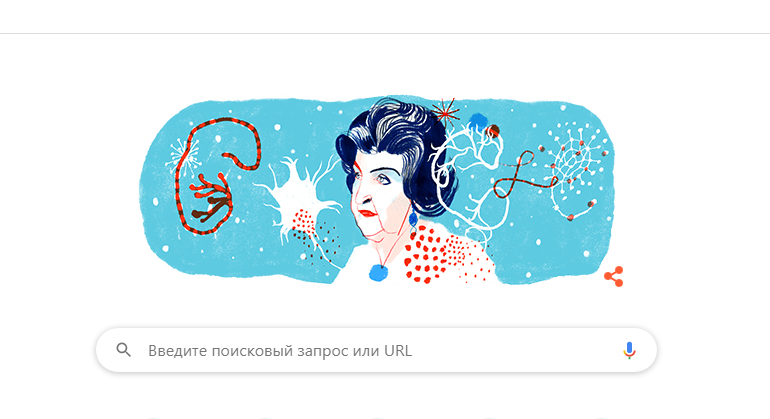 Google посвятил новый дудл 96-летию со дня рождения нейрофизиолога Натальи Бехтеревой