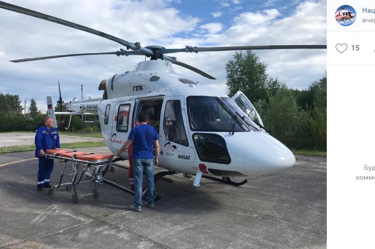 Пятерых жителей Ленобласти доставили в больницу по воздуху