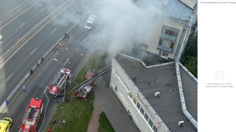 Пожар после взрыва на Краснопутиловской локализован