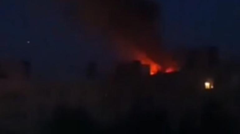 Ночной пожар в Колпино: выгорела однокомнатная квартира