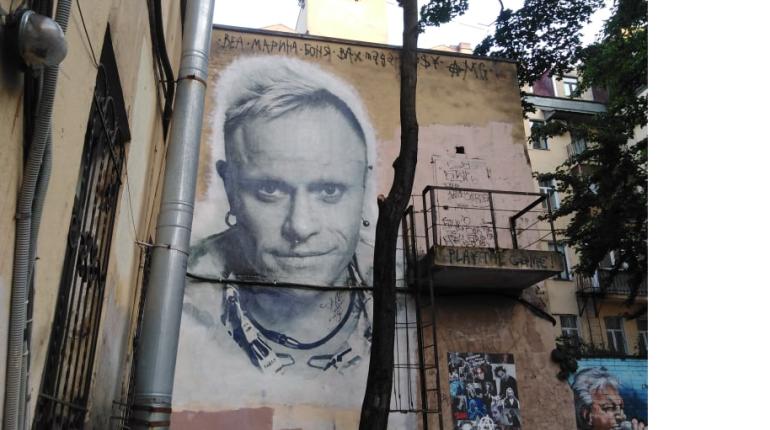 На Лиговском появился граффити-портрет Кита Флинта из The Prodigy