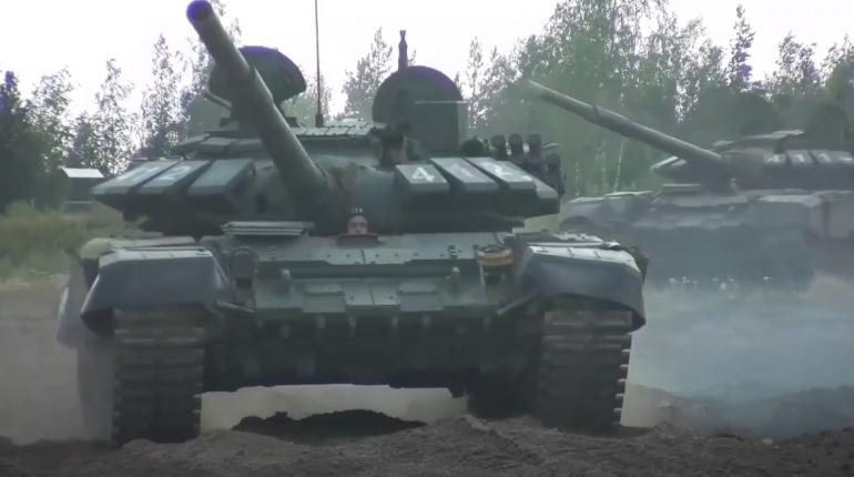 Стрельбы танкистов ЗВО в Ленобласти сняли на видео