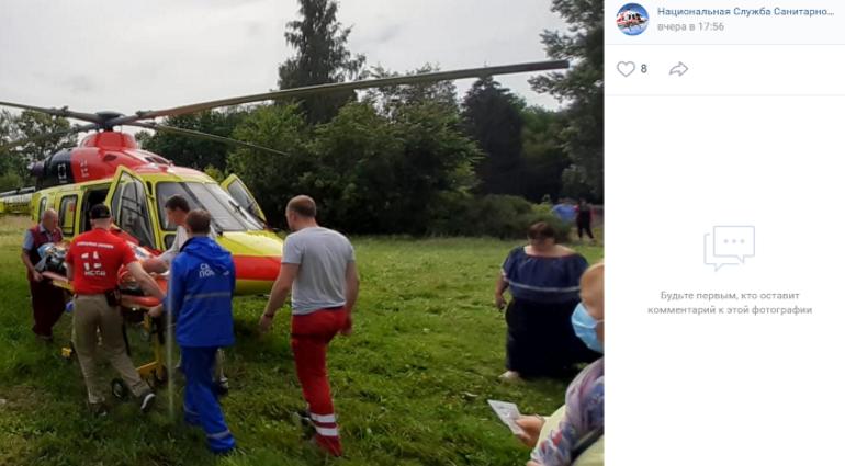 В Ленобласти пациента с ожогами госпитализировали вертолетом