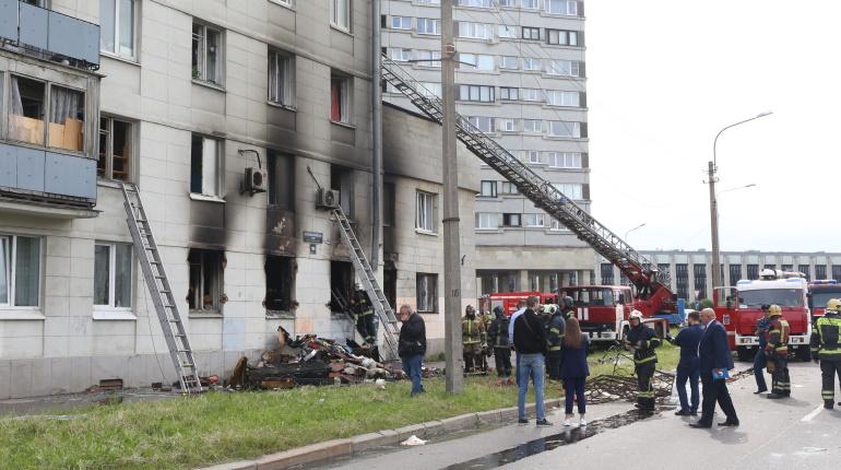 При взрыве на Краснопутиловской пострадала женщина, СК начал проверку