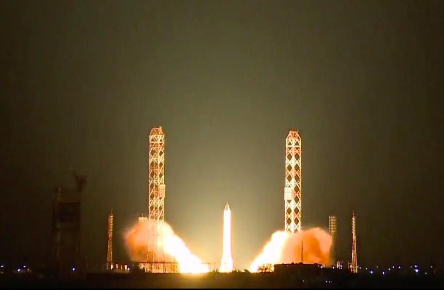 Ракета-носитель «Протон-М» со второй попытки стартовала с Байконура