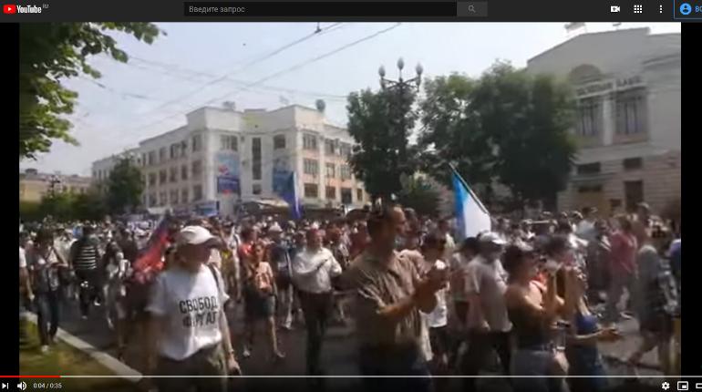 Хабаровчане снова вышли на улицы — акция в поддержку Фургала не согласована