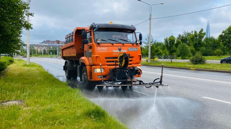 За неделю с улиц Петербурга смыли 2000 тонн грязи
