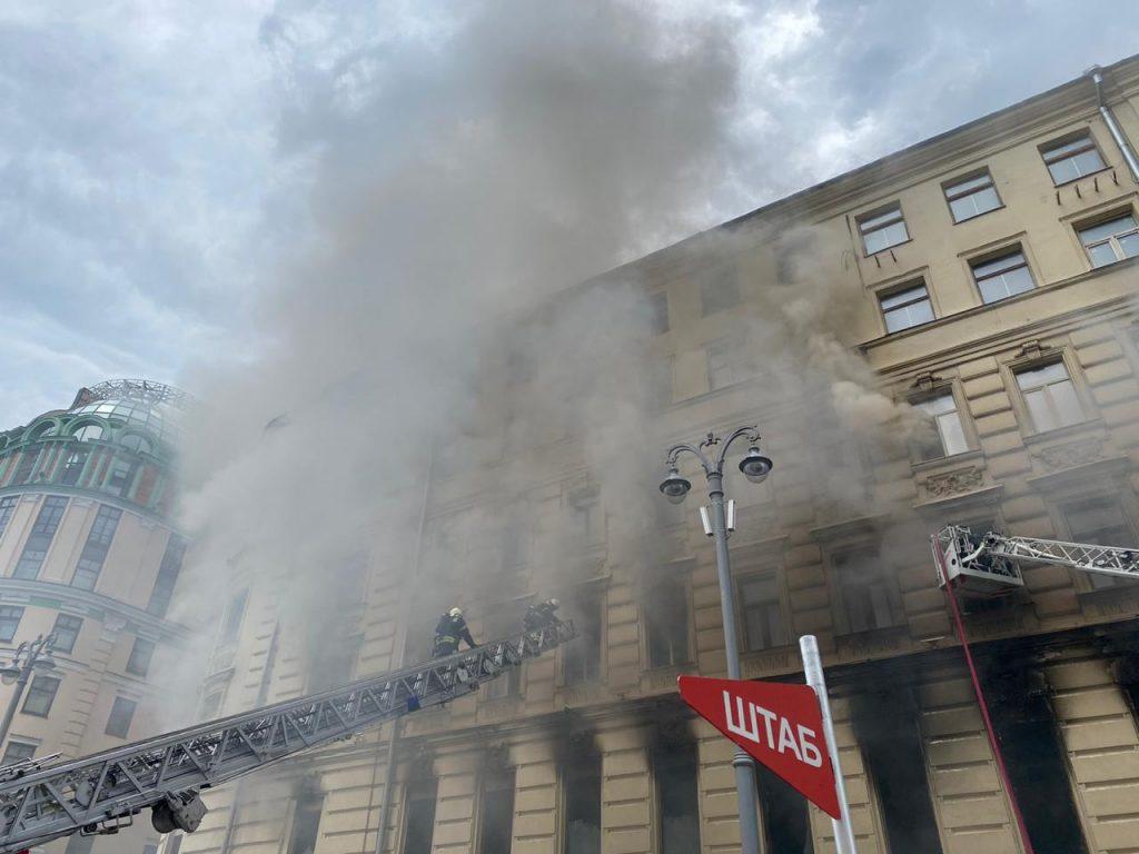 Пожар на Тверской в центре Москвы локализовали, площадь составила 800 «квадратов»