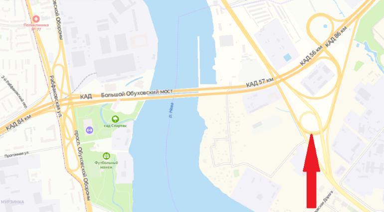 Съезд с Октябрьской набережной на КАД будет закрыт на сутки
