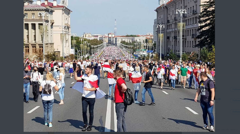 МВД Белоруссии сказало, когда применит силу к протестующим