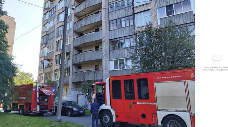 На Товарищеском четыре расчета пожарных тушили кухню