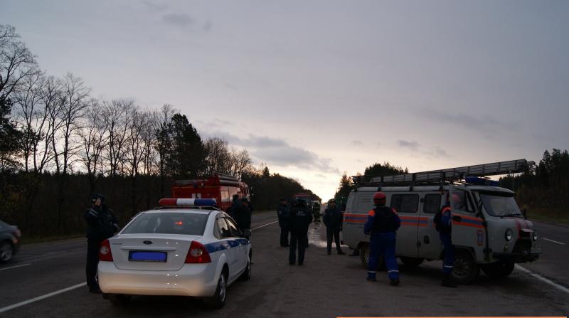 В коттеджном поселке у Бора 12 пожарных ночью тушили автомобиль