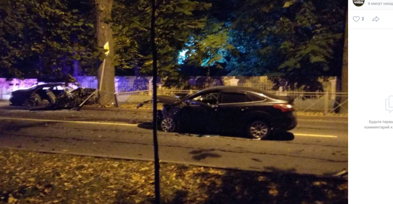Четверо пострадали в столкновении двух машин в Пушкине