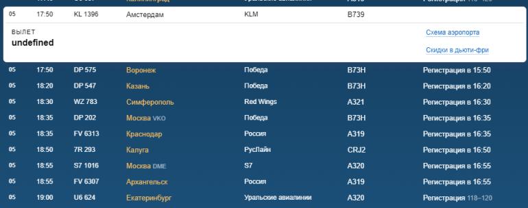 В субботу в Пулково нет отмененных или задержанных рейсов