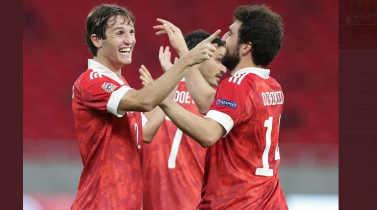 Россия с крупным счетом обыграла Венгрию в матче Лиги наций