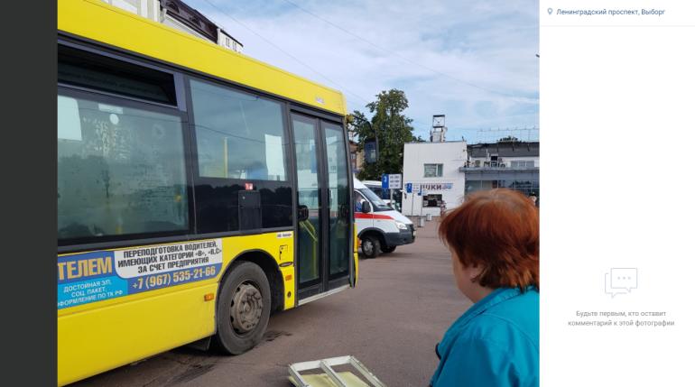 В Выборге неисправный автобус сбил пешехода на автовокзале
