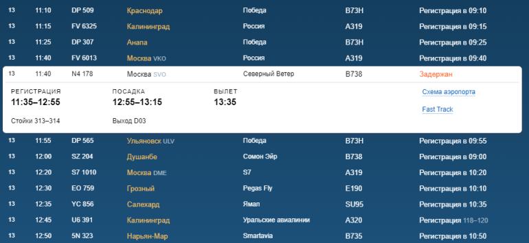 В воскресенье в Пулково нет отмененных рейсов, но задержан борт в Москву