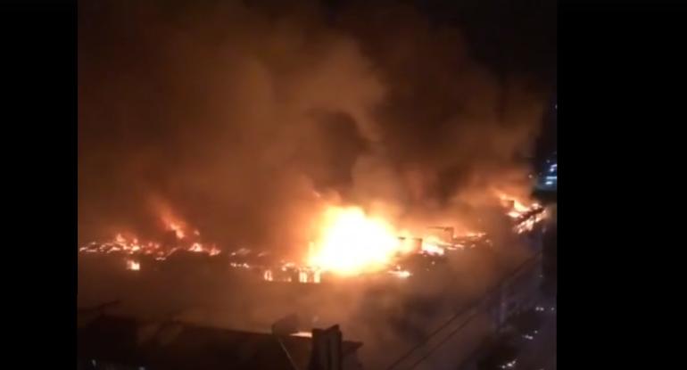 ГУ МЧС на Кубани переведено в режим ЧС из-за пожара в Краснодаре