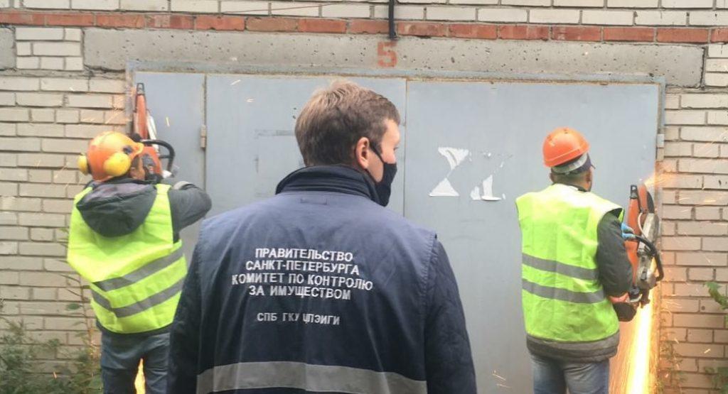 Снос гаражей на Пулковском шоссе. Фото: Комитет по контролю за имуществом Петербурга