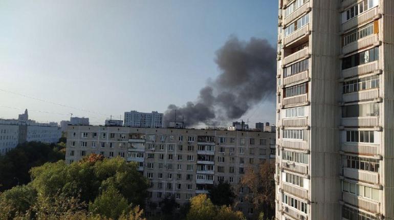 В Москве произошёл пожар в жилом доме в Кузьминках