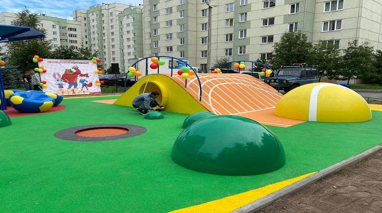 Власти Петербурга подарили школьникам из Ленобласти детскую площадку
