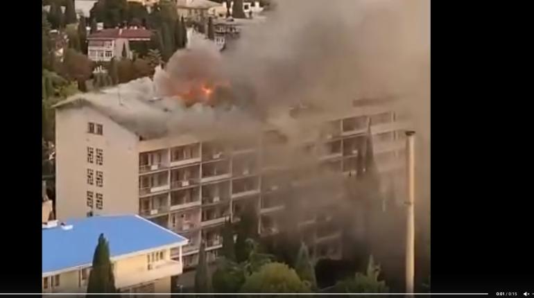Пожар в санатории Минобороны в Ялте локализован