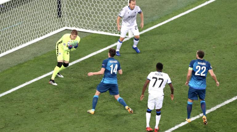 «Зенит» упустил ничью с «Брюгге» в матче Лиги чемпионов