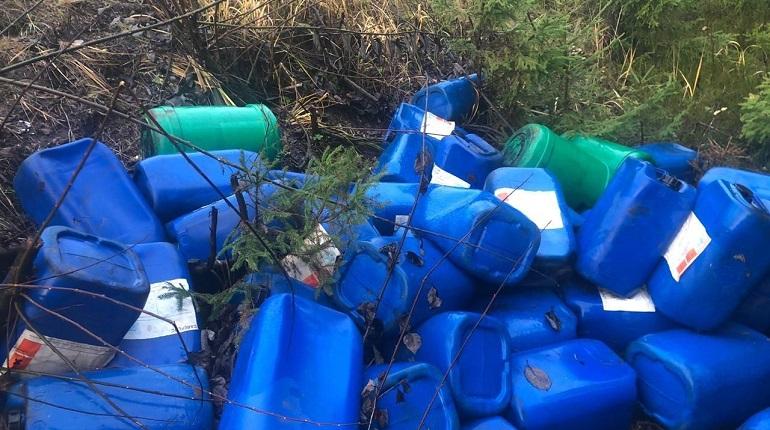 Найденные у реки Гладышевки канистры оказались неопасными