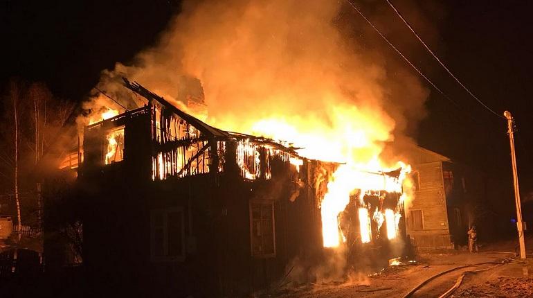 Частный дом загорелся в Большом Верево в рождественскую ночь