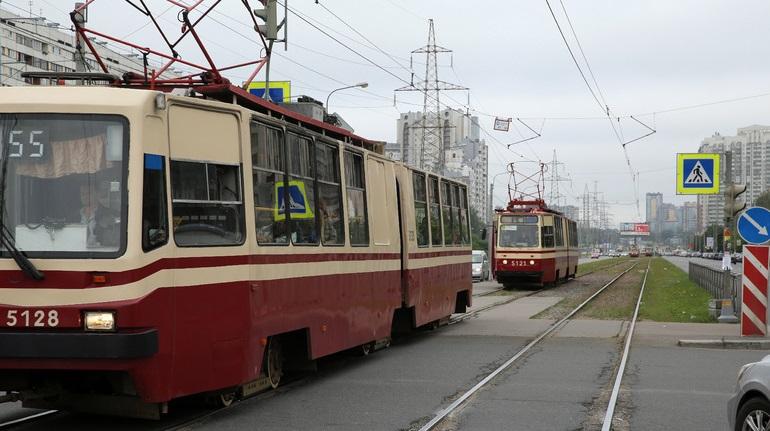 Выборгское шоссе снова закрывается для трамваев на двое суток