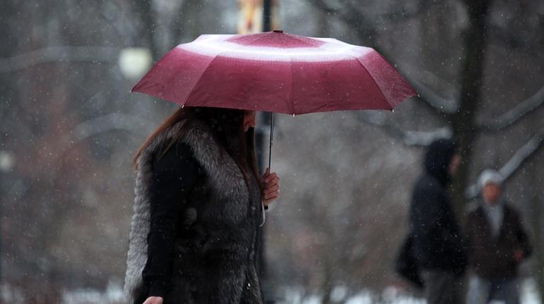 «Луис» принес в Петербург дожди с мокрым снегом