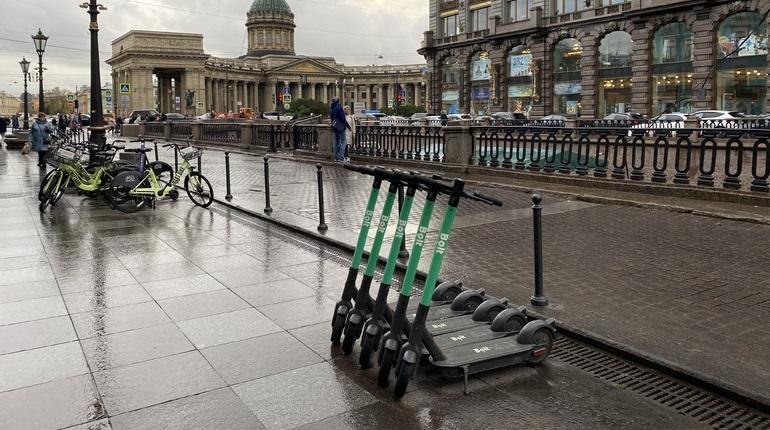Петербуржцы смогут воспользоваться шерингом электросамокатов, когда позволит погода