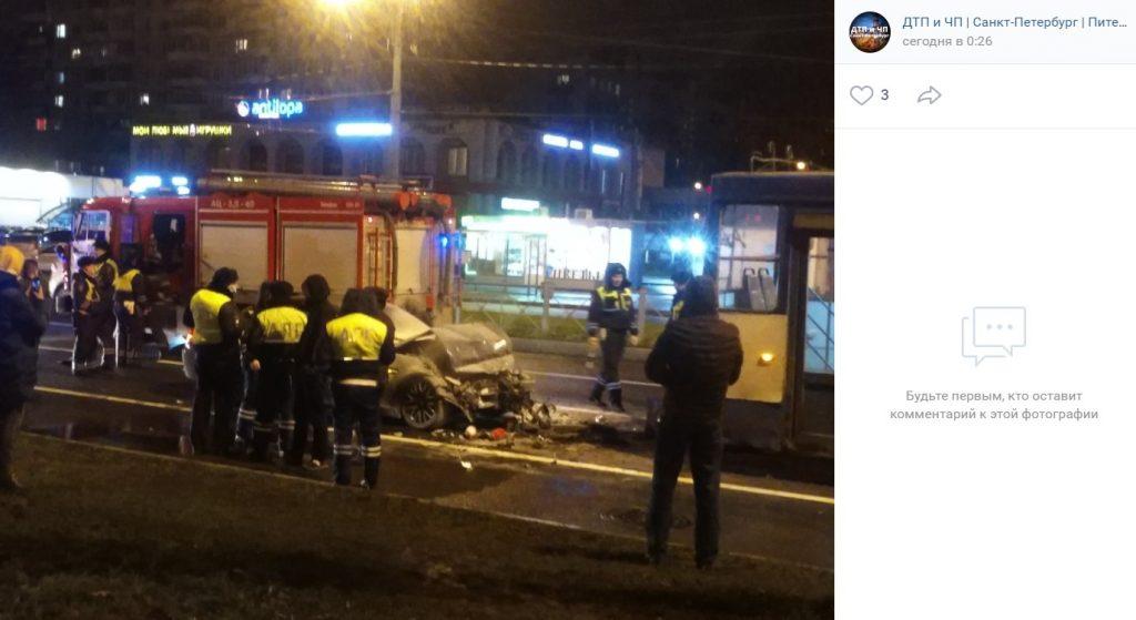 За ноябрь на дорогах Петербурга произошло почти 400 ДТП