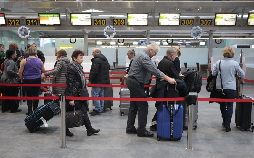 В Пулково все рейсы в понедельник отправляются и прибывают без задержек