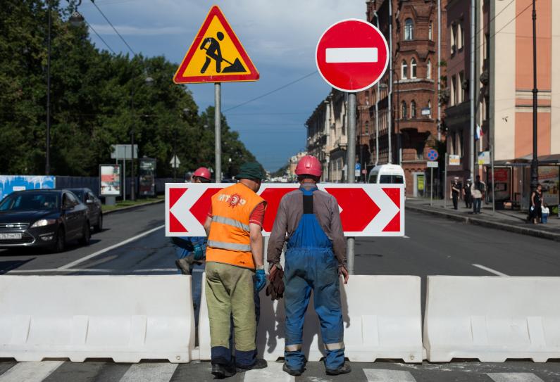 В Петербурге по ряду улиц ограничат движение с 13 ноября