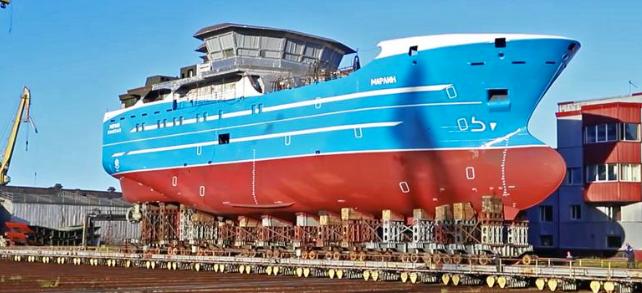 В Петербурге спустили на воду новое рыболовецкое судно «Марлин»