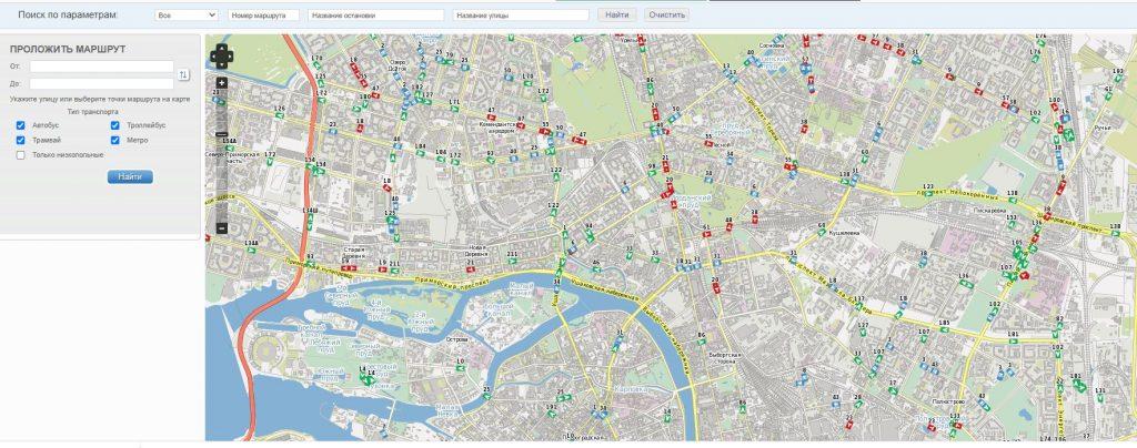 Петербуржцы не смогли утром найти автобусы в онлайн-картах