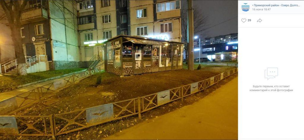 Смольный не справляется с возрождающимися незаконными павильонами в Приморском районе