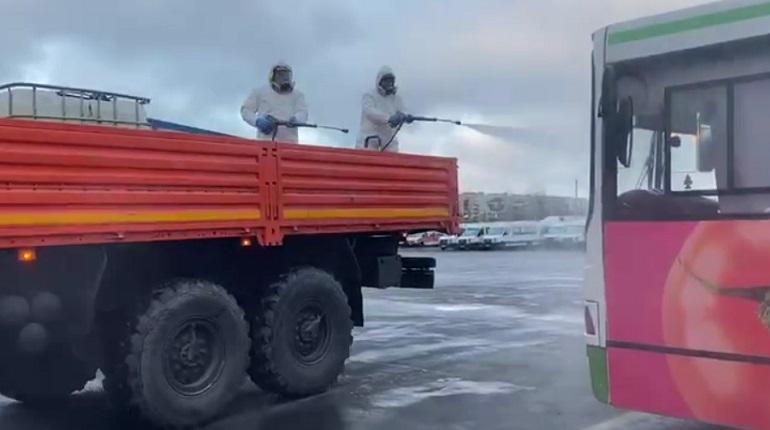 В Ленобласти автобусные парки дезинфицируют холодным и горячим туманом