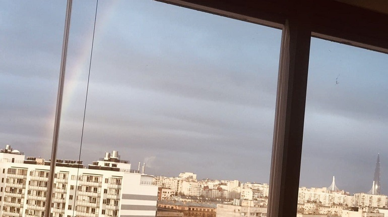 Петербург украсила яркая радуга