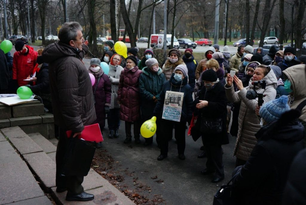 Фоторепортаж Мойки78: в Петербурге снова прошел народный сход против сноса ВНИИБ