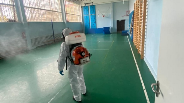 В Ленобласти во время каникул продезинфицировали 169 школ и детсадов