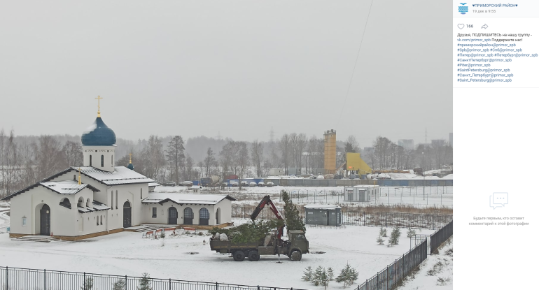 Прихожане храма извинились перед жителями улицы Шаврова за выкопанные ели