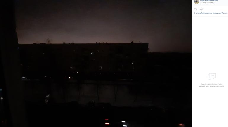 Вернуть свет на юго-запад Петербурга планируют к девяти вечера