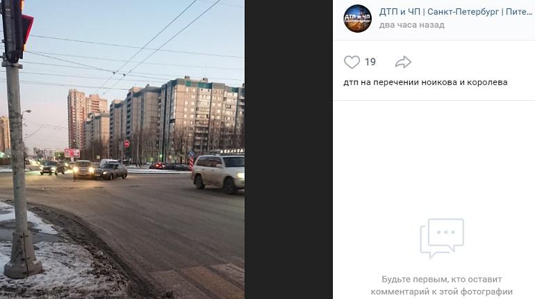 На улице Маршала Новикова Nissan иLada угодили в ДТП