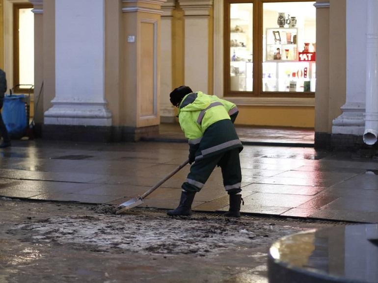 Чиновники остались недовольны уборкой Адмиралтейского района Петербурга