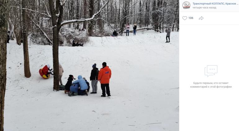 Человек погиб, катаясь на ватрушке на юго-западе Петербурга