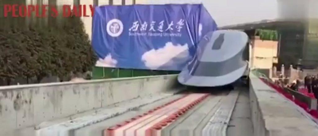 В Китае создали сверхскоростной поезд, разгоняющийся до 619 км в час