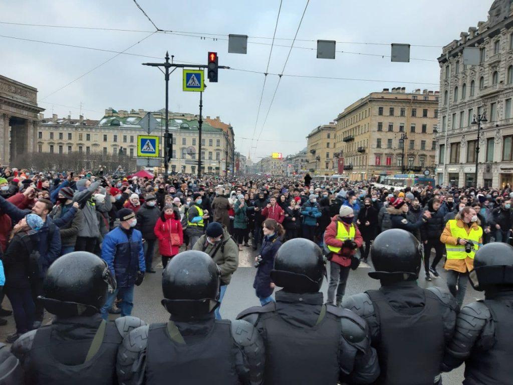 Как митинг проходил сегодня в Петербурге: фоторепортаж Мойки78