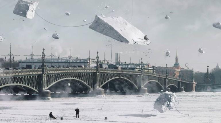 Над Невой заметили грави-льдины: на них рыбаки ловят грави-окуней